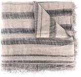 Faliero Sarti striped frayed scarf