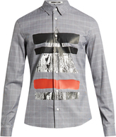 McQ by Alexander McQueen Prince of Wales-checked cotton shirt