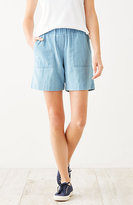 J. Jill Indigo Double-Cloth Shorts