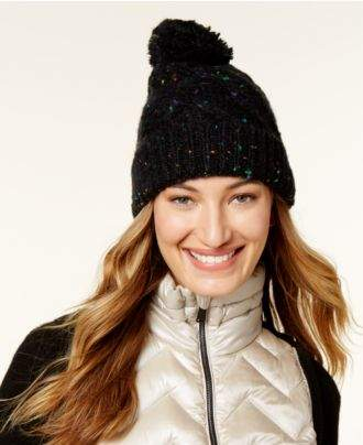 Steve Madden Speckled Cable Beanie