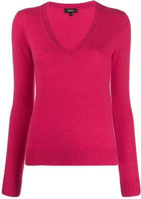 Theory plunge neck jumper