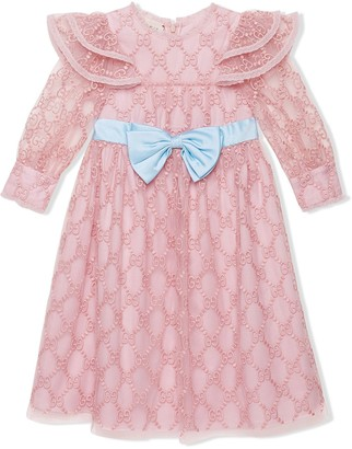 Gucci Kids GG embroidered dress