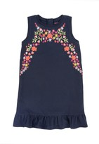 Juicy Couture Girls Knit Embroidered Pique Shift Dress