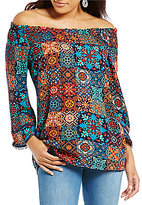 Westbound Off-the-Shoulder 3/4 Sleeve Peasant Top