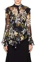 Erdem Women's Wanda Floral Silk Blouse