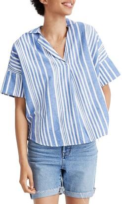 Madewell Courier Stripe Button Back Shirt