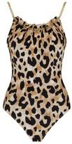 Gottex Chain-Detail Leopard Swimsuit
