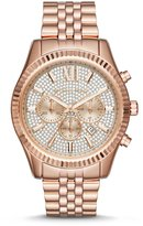Michael Kors Lexington Pav Chronograph & Date Bracelet Watch