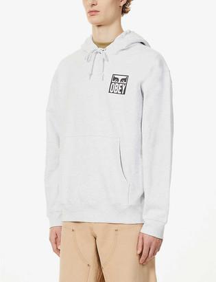 Obey Eyes Icon logo-print cotton-jersey hoody