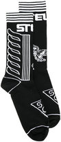 Stella McCartney patterned socks - men - Cotton/Polyamide/Spandex/Elastane - M