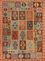 Arshs' Fine Rugs Kilim Arya Felton Flatweave Hand-Woven Wool Southwestern Rug