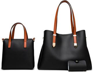 Ella & Elly Women's Crossbodies Black - Black Shoulder Bag Set