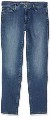 Eddie Bauer Women's Elysian Jeans-Slim Straight Leg-Slightly Curvy (Brilliant Blue 395), 35W / 31L