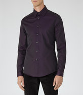 Reiss Reiss Dimarco - Slim Cotton Shirt In Red, Mens