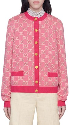 Gucci GG Cotton Wool Piquet Cardigan