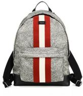 Bally Racing Striped Nylon Backpack