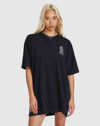 Neon Hart - Women's Short Sleeve T-Shirts - Palm Reader Oversized T-Shirt Dress - Size One Size, M/L at The Iconic