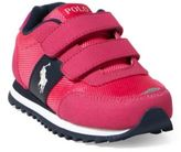 Ralph Lauren Zaton Faux-Suede Ez Sneaker Fuchsia Microsuede- Navy 10