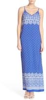 Women's Fraiche By J Border Print A-Line Maxi Dress