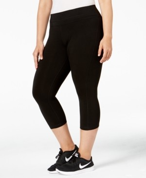 Ideology Plus Size Cropped Leggings, Created for Macy's