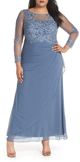 Decode 1.8 Embroidered Illusion Lace Gown