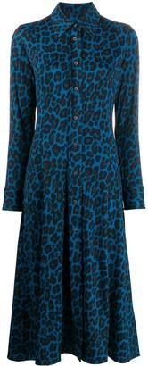 Paul Smith leopard-print shirt midi dress