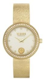 Versus By Versace Women's Lea Gold Tone Stainless Steel Bracelet Watch 35mm