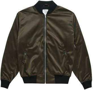 Alistair Grey Satin Bomber Charcoal