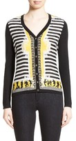 Versace Women's Catwalk Print Silk & Wool Cardigan
