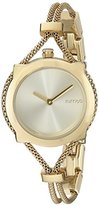 RumbaTime Women's 20243 Gramercy Mesh Analog Display Japanese Quartz Gold Watch
