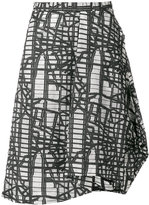 Chalayan asymmetric graphic print skirt