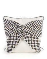 Mackenzie Childs MacKenzie-Childs BOW PILLOW-WHITE