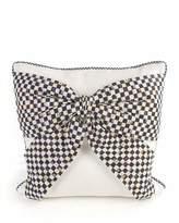 Mackenzie Childs MacKenzie-Childs White Bow Pillow