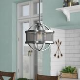 Laurèl Earlene 1 - Light Single Globe Pendant Foundry Modern Farmhouse Finish: Pewter