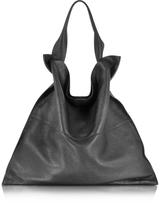Jil Sander Xiao Black Leather Medium Tote