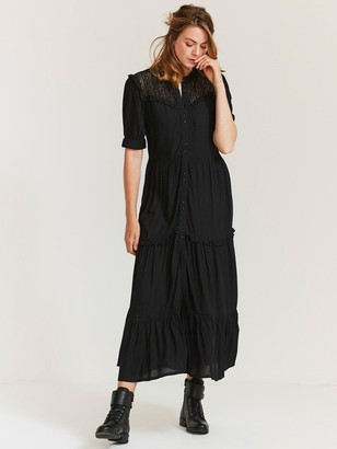 Fat Face Ella Midi Dress - Black