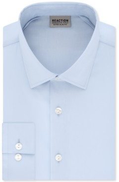 Kenneth Cole Reaction Men's Extra-Slim Fit Non-Iron Solid Dress Shirt