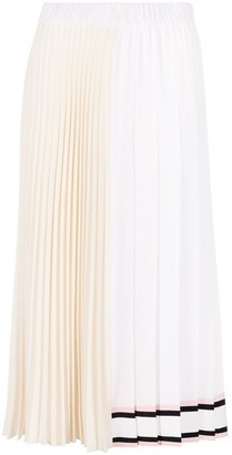 No.21 fully-pleated A-line skirt