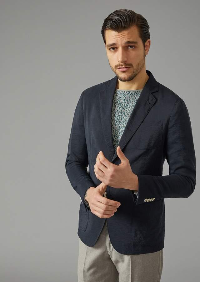 Giorgio Armani Washed Silk Upton Jacket