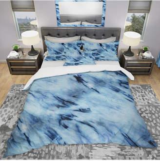 Designart 'Tie Dye' Modern and Contemporary Duvet Cover Set - Queen Bedding