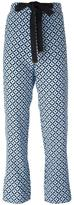 Marni Tracery print trousers - women - Silk - 36