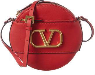 Valentino V-Ring Leather Crossbody