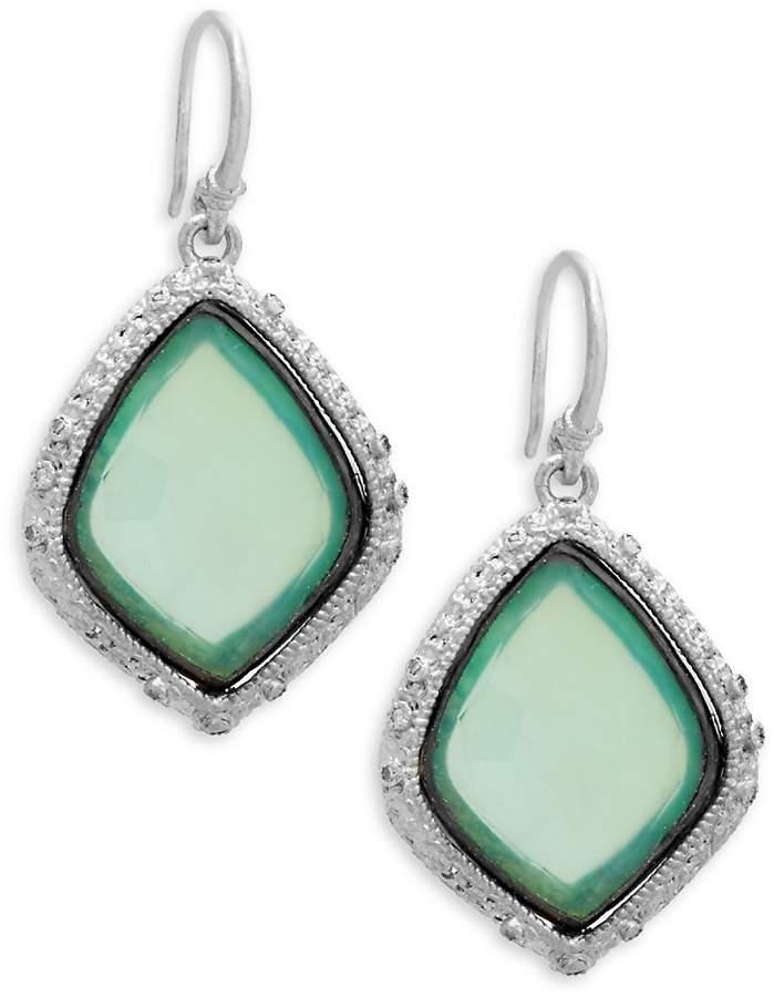 Armenta Women's New World Gemstone Kite Drop Earrings
