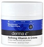 Derma E Vitamin A Retinyl Palmitate Wrinkle Treatment Crème, 4-Ounce Jar (Pack of 3) - Packaging May Vary