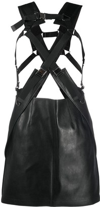 Junya Watanabe Faux-Leather Buckled Skirt