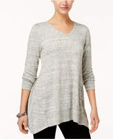 Style&Co. Style & Co Spacedyed Tunic Sweater, Created for Macy's