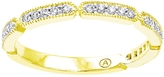 1/5 CT TW Diamond 10K Gold Vintage Semi-Eternity Anniversary Band by Moda Di Oro