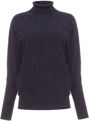 Phase Eight Becca Roll Neck Fleck Yarn Knit Jumper