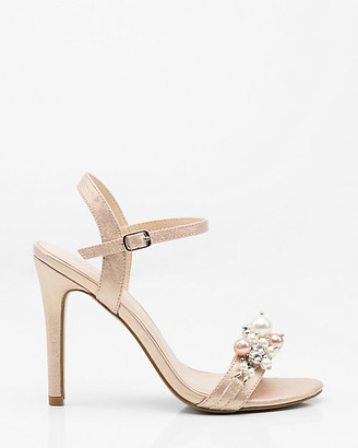 Le Château Pearl Embellished Open Toe Sandal
