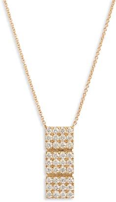 Bony Levy Katherine Pave Drop Pendant Necklace